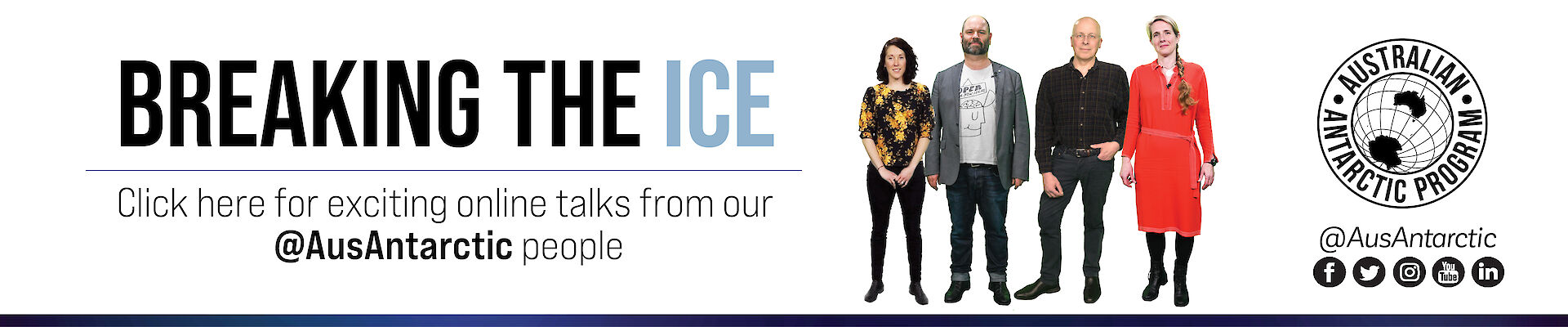 Breaking the Ice — join us during National Science Week for online presentations from our leading scientists