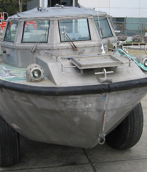 Front view of Lighter Amphibious Resupply Cargo vehicle