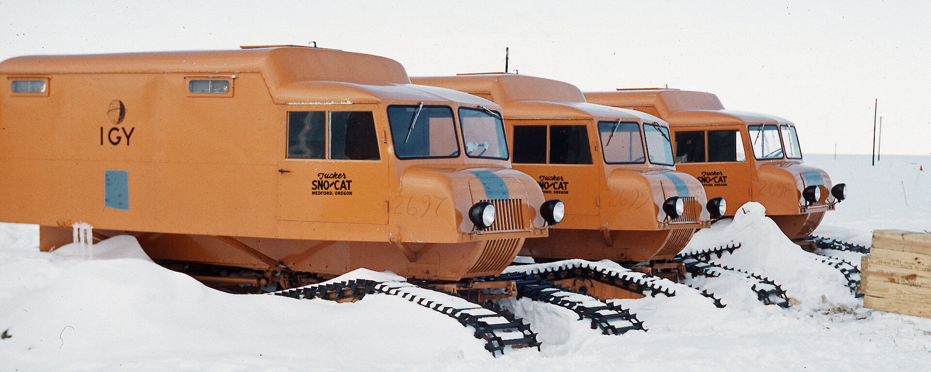 Snow cats used by Australia during the International Geophysical Year