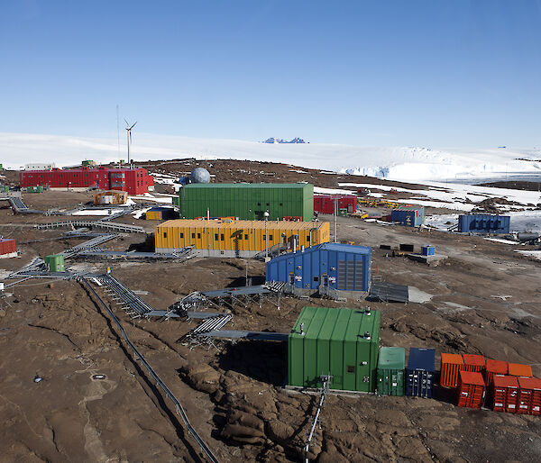 View of Mawson station.
