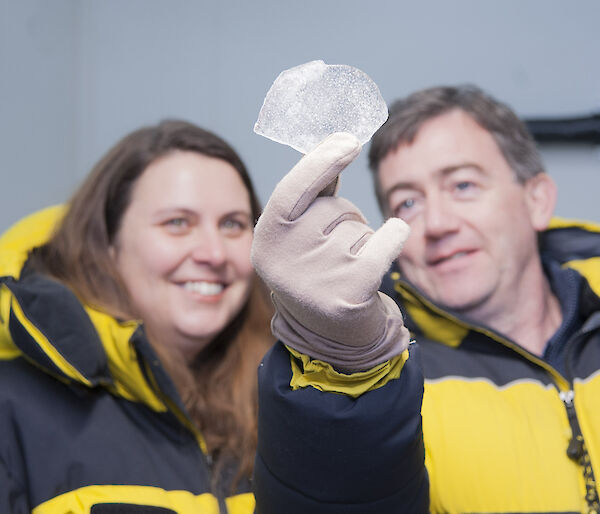 Looking at an ice core
