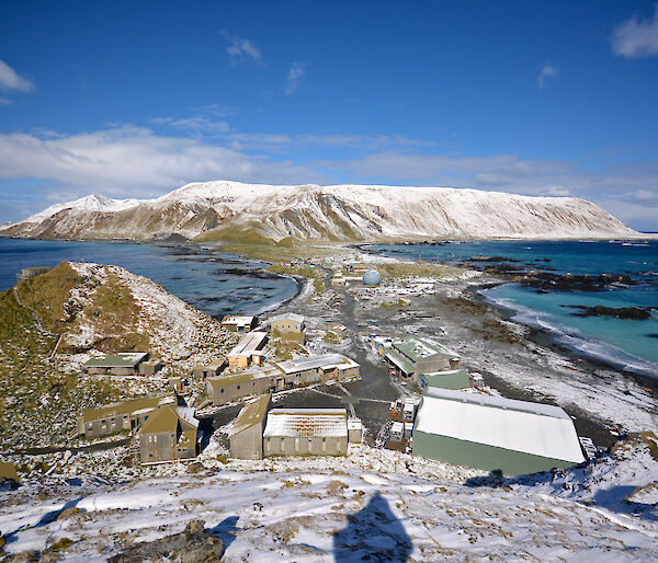 Photo of Macquarie island research station