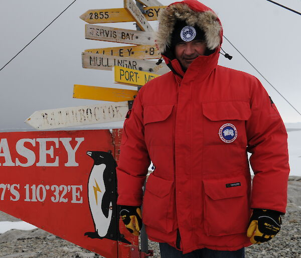 Casey research Station Leader Paul Ross.