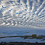 The wave structure in these clouds over Mawson is caused by gravity waves in the Antarctic atmosphere