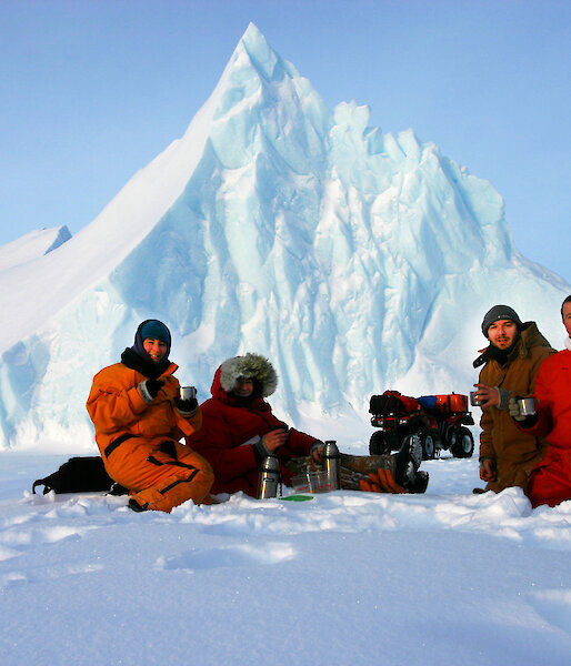 Photo of expeditioners in Antarctica