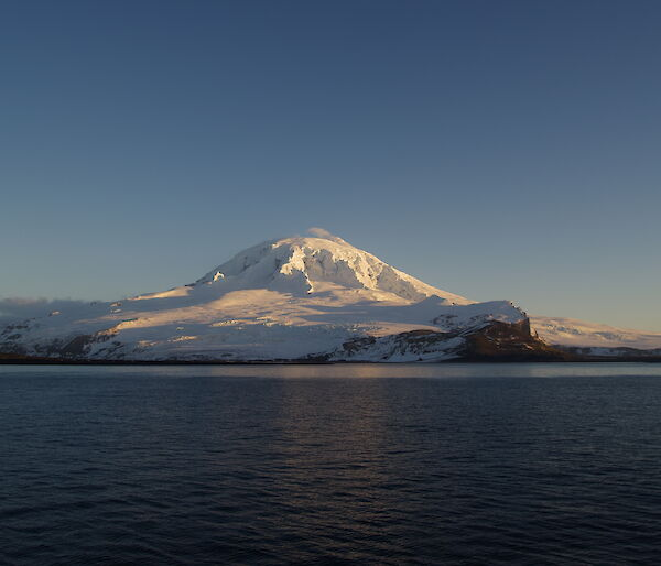 Heard Island volcano Big Ben viewed from Atlas Cove