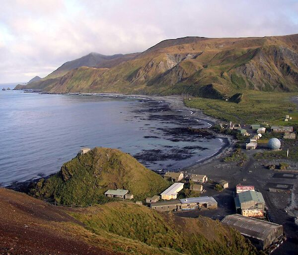 A view of Macquarie Island station from North Head