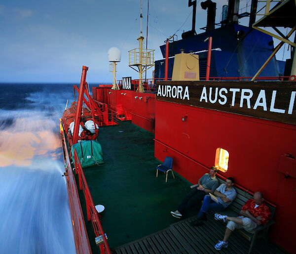 Heading south on the Aurora Australis, Southern Ocean
