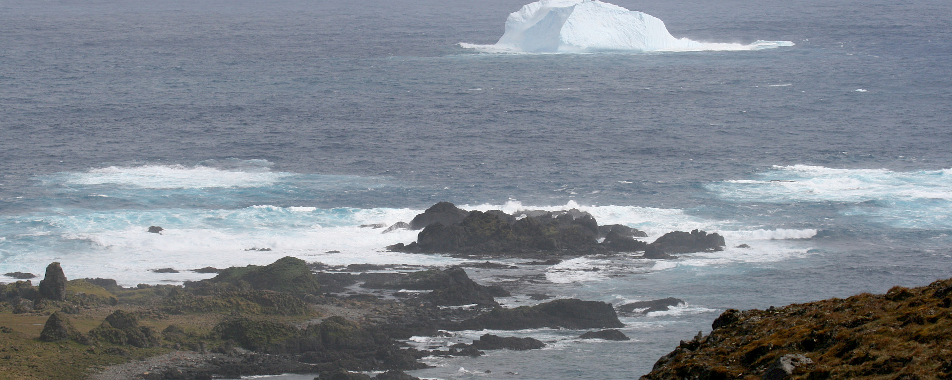 Iceberg at Bauer Bay off the west coast of Macquarie Island