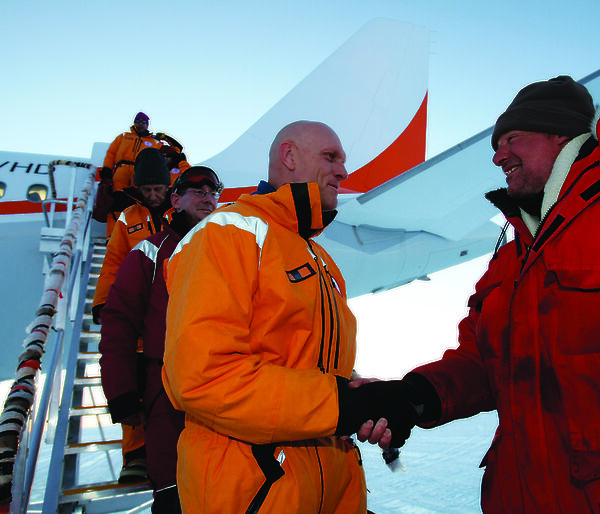 Environment Minister welcomed to Antarctica by Casey Station Leader Jeremy Smith
