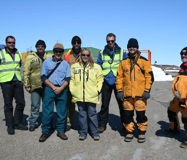Group of expeditioners at Mawson station.