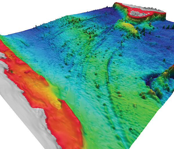 3D model of the seascape between Tasmania and Antarctica