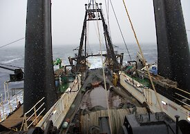 View from the deck of a trawl vessel