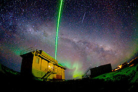 The LIDAR instrument lighting the sky above Australia's Davis research station