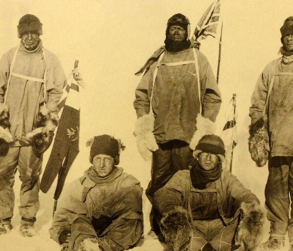 Scott and team at the South Pole.