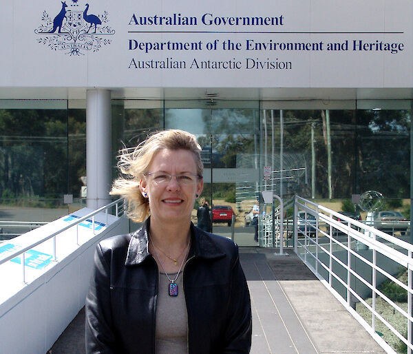 Professor Linda Blackall outside the Australian Antarctic Division