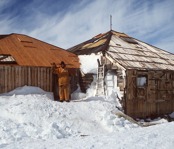 Main Hut from Mawson's huts site in Antarctica