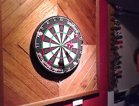 The winning throw in the recent inter-station darts tournament