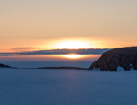 Sunset over the sea ice