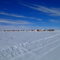 The Aurora Basin field camp of ice coring, kitchen and polar pyramid tents