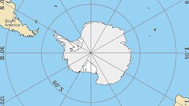 A map of Antarctica and surroundings.