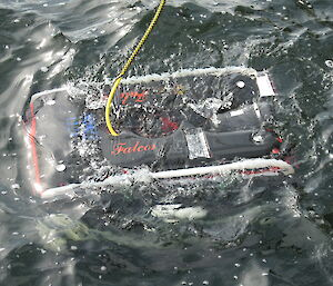 The ROV in the water.