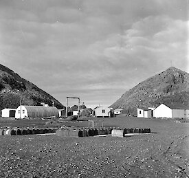 Macquarie Island station, looking north-east 1956