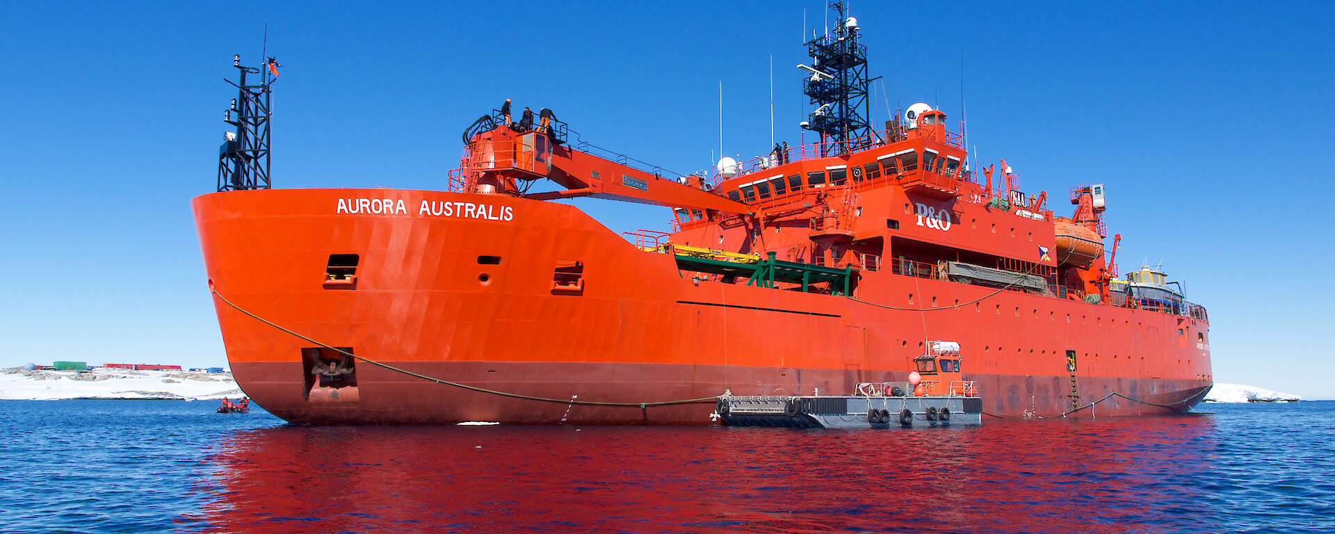 Aurora Australis moored during resupply at Casey station