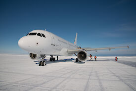 A319 on the ice at Wilkins runway near Casey