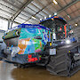 Vibrant artwork on a new Antarctic tractor