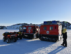 Hagg and quad bikes on sea ice