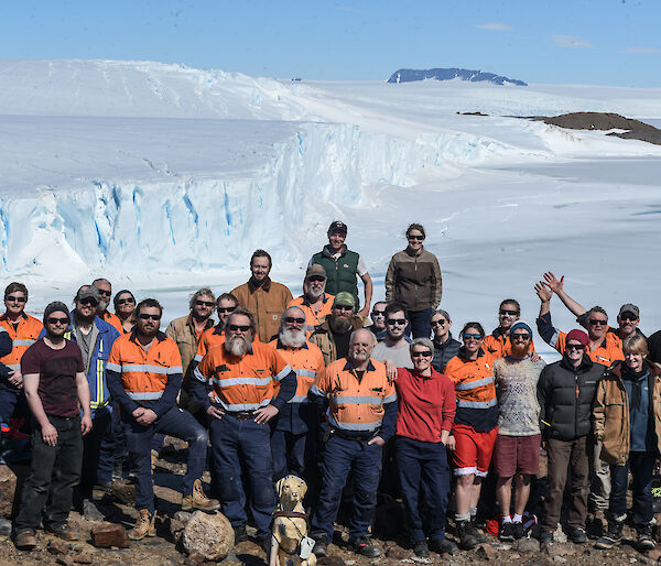 A group shot of the Mawson summer population