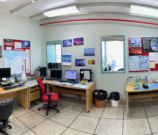 The Mawson Meteorology office.