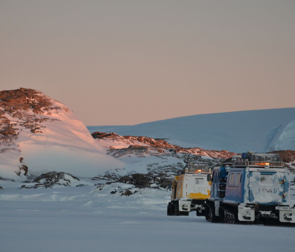 Mawson 72nd ANARE deep field traverse to Taylor Glacier — June 2019.