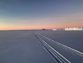 The huge emptiness and wonderful skies of Antarctica — Mawson.