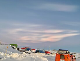 Colourful nacreous cloud formation around midwinter — Mawson.