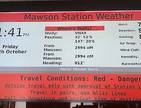 Typical Mawson blizzard weather conditions.