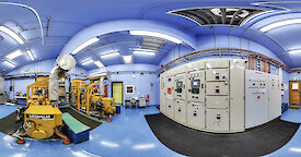 A 360 degree view of the diesel generator room at Macquarie Island.