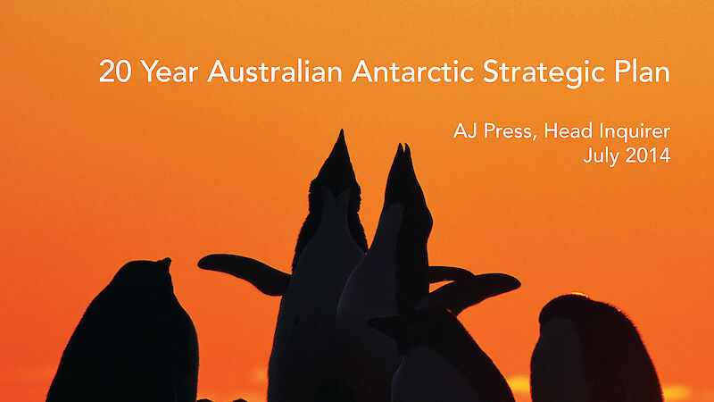 Cover of the 20 Year Australian Antarctic Strategic Plan