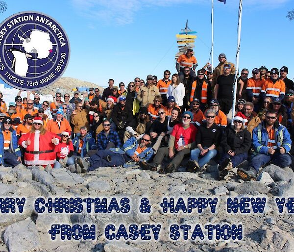 The official Casey Christmas Card for 2019