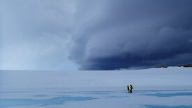 Australian Antarctic scientists on the sea-ice