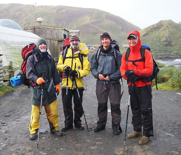 Group photo of four expeditioners